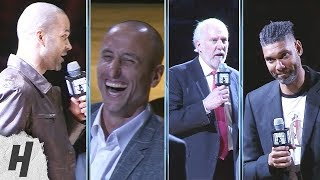 Download Tony Parker, Gregg Popovich & Tim Duncan Speeches at Manu Ginobili Retirement Ceremony Mp3 and Videos