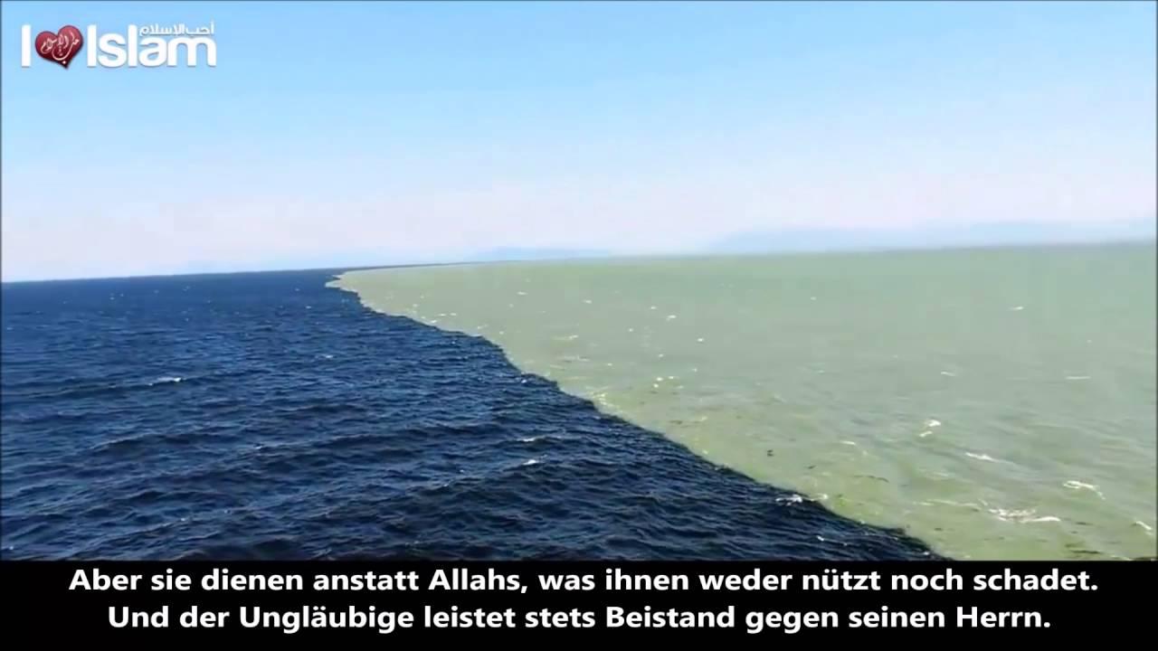 Ozeane Treffen Aufeinander