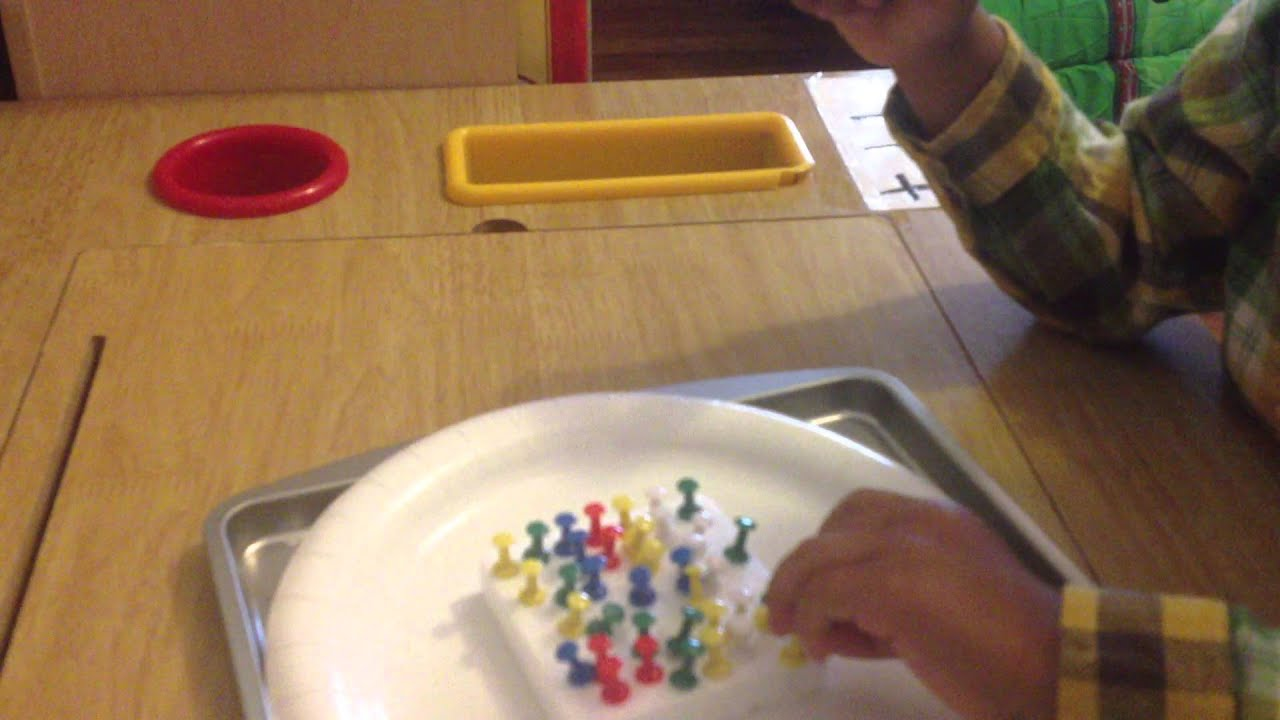 Montessori Activity fine motor skills  YouTube
