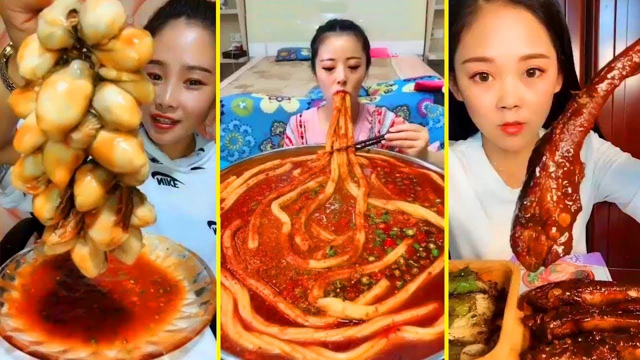 ASMR/ EATING SHOW COMPILATION - CHINESE FOOD. #60 - YouTube