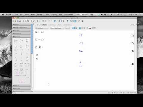 Basic math with Maple 15