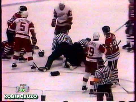 Denis Savard cheap shot  Bob Errey Apr 12, 1996