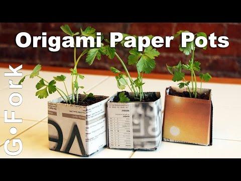 Origami Paper Seed Starting Pots - GardenFork