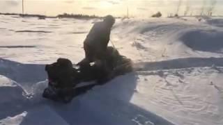 Тайга Варяг 500 в глубоком снегу 1