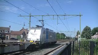 Rurtalbanh Cargo 186 423-0 met Containertrein langs Gilze Rijen.