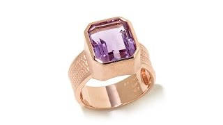 Rarities Gemstone Solitaire Wide Shank Ring