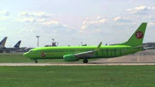 Domodedovo, Boeing 737-800 S7 take-off.
