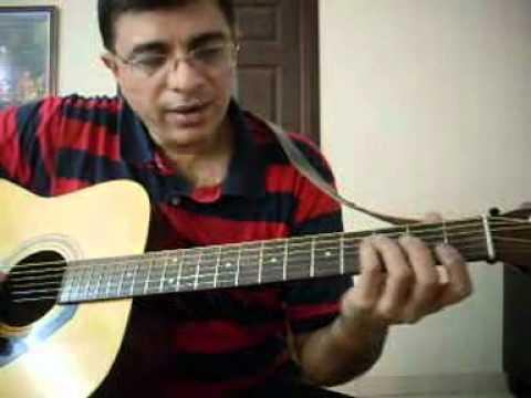 Nenjukkul Peidhidum Intro Lead guitar lesson by Suresh - YouTube