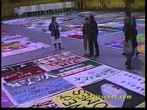 AIDS Quilt with Cleve Jones, Santa Rosa CA, 1989-02-03