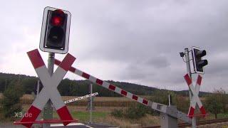 Realer Irrsinn: Bahnübergang im Nirgendwo