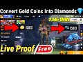 How To Convert Gold Coins Into Diamonds In Free Fire | Free Fire Gold Convert Into Diamonds 2020