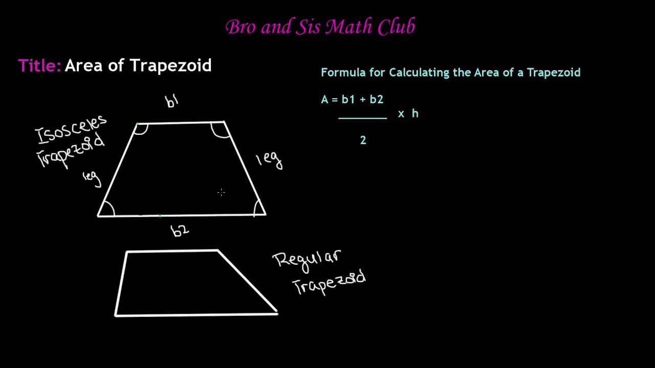 6th Grade Math Calculating Area Of Trapezoids