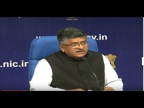 Cabinet Briefing by Law & IT Minister Shri Ravi Shankar Prasad