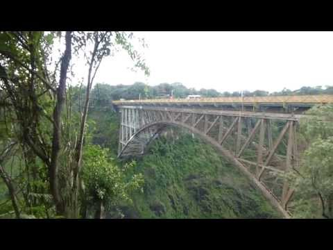 The Victoria Falls Bridge linking Zambia and Zimbabwe