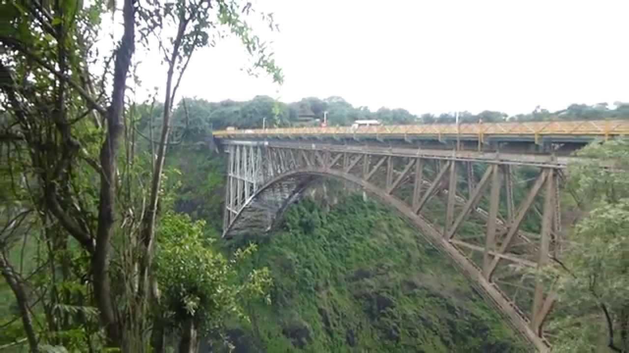 The Victoria Falls Bridge linking Zambia and Zimbabwe