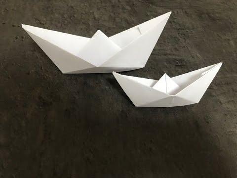bateau en papier qui flotte origami facile paper boat. Black Bedroom Furniture Sets. Home Design Ideas
