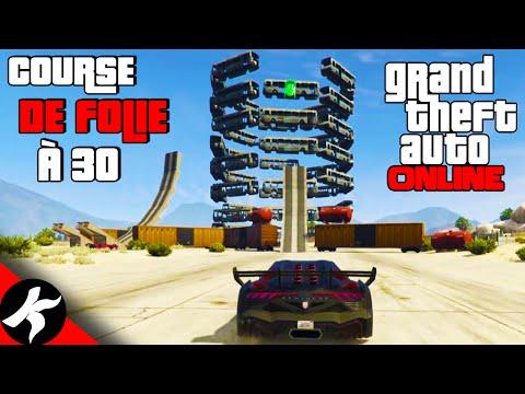 GTA ONLINE - Course de Folie à 30 Voitures
