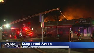 4 North Mpls. Businesses Destroyed By Fire Overnight; Arson Suspected