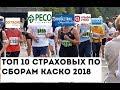 ТОП10 страховых по сборам КАСКО 2018