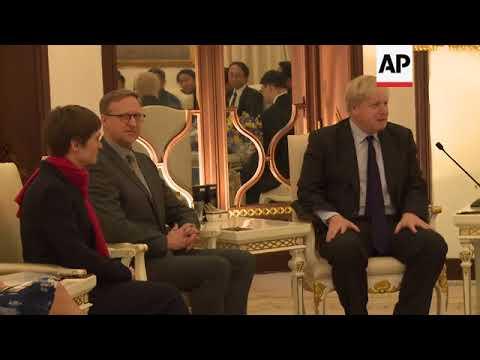 Thai PM welcomes visiting UK foreign secretary in Bangkok