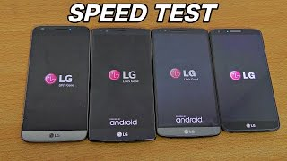 LG G5 vs G4 vs G3 vs G2 - Speed Test (4K)