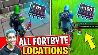 *NEW* ALL FORTBYTE LOCATIONS (1-100) FORTBYTES FORTNITE SEASON 9! - Fortbyte Challenges (PART 2)