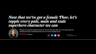 Independant Author Wants All White Men Removed From Superhero Movies