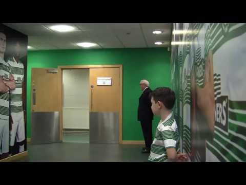 Celtic v Dundee united mascot Footage march 21st 2015