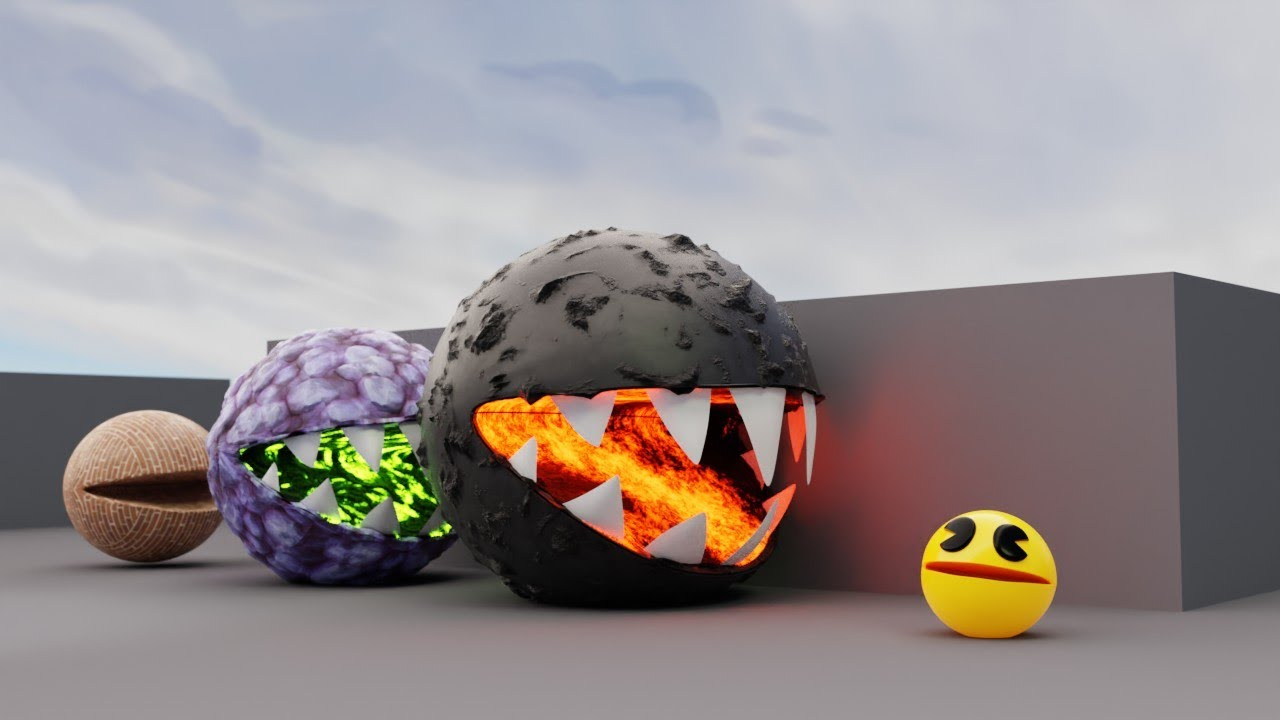 Pacman Vs Monsters #2 Compilation (Lava, Nuclear, Stone Pacman)