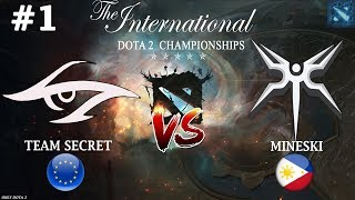 МИПО от СИКРЕТ! | Secret vs Mineski #1 (BO3) The International 2019
