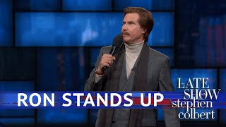Download Ron Burgundy's EXCLUSIVE Stand-Up Comedy Debut On The Late Show Mp3 and Videos