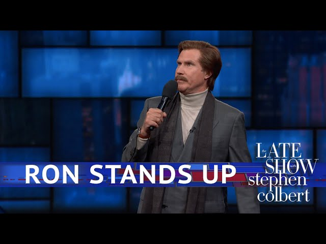 Ron Burgundys EXCLUSIVE Stand-Up Comedy Debut On The Late Show