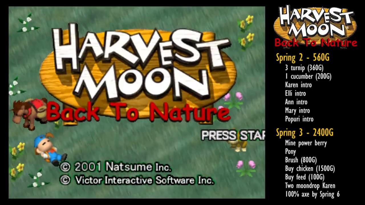 #1 Master Walkthrough Spring 2-3 [Harvest Moon: Back to Nature] [LONGPLAY]