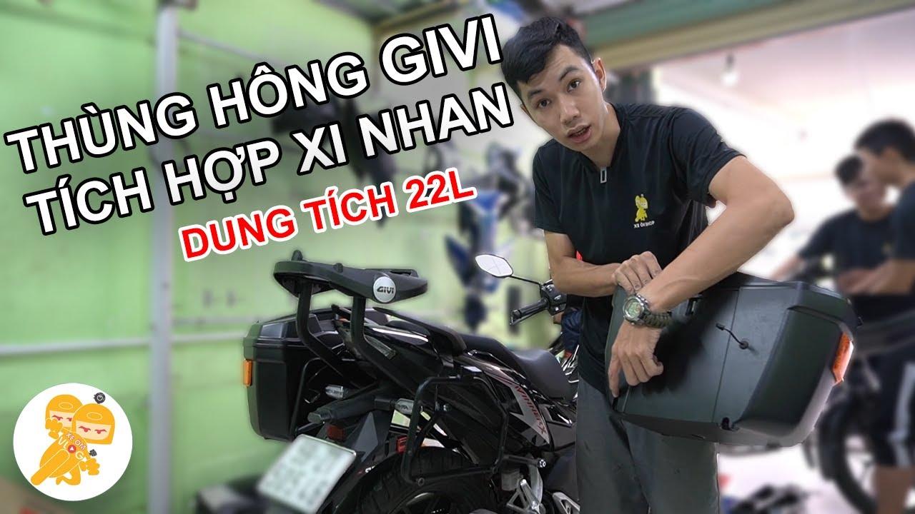 Lắp Full Combo CẢNG HRV Và THÙNG HÔNG Chính Hãng GIVI Cho Xe Winner X - Xe Ôm Shop