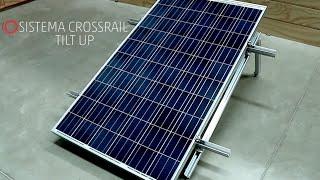 Instalación de sistema CrossRail Tilt Up de Everest Solar Systems