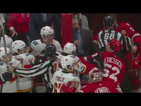 Suspension for Red Wings' Witkowski handed down, Flames' Tkachuk to have hearing