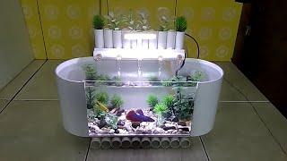 Gambar cover aquarium mini dari pipa pvc part 3/mini aquarium from pvc pipes part 3