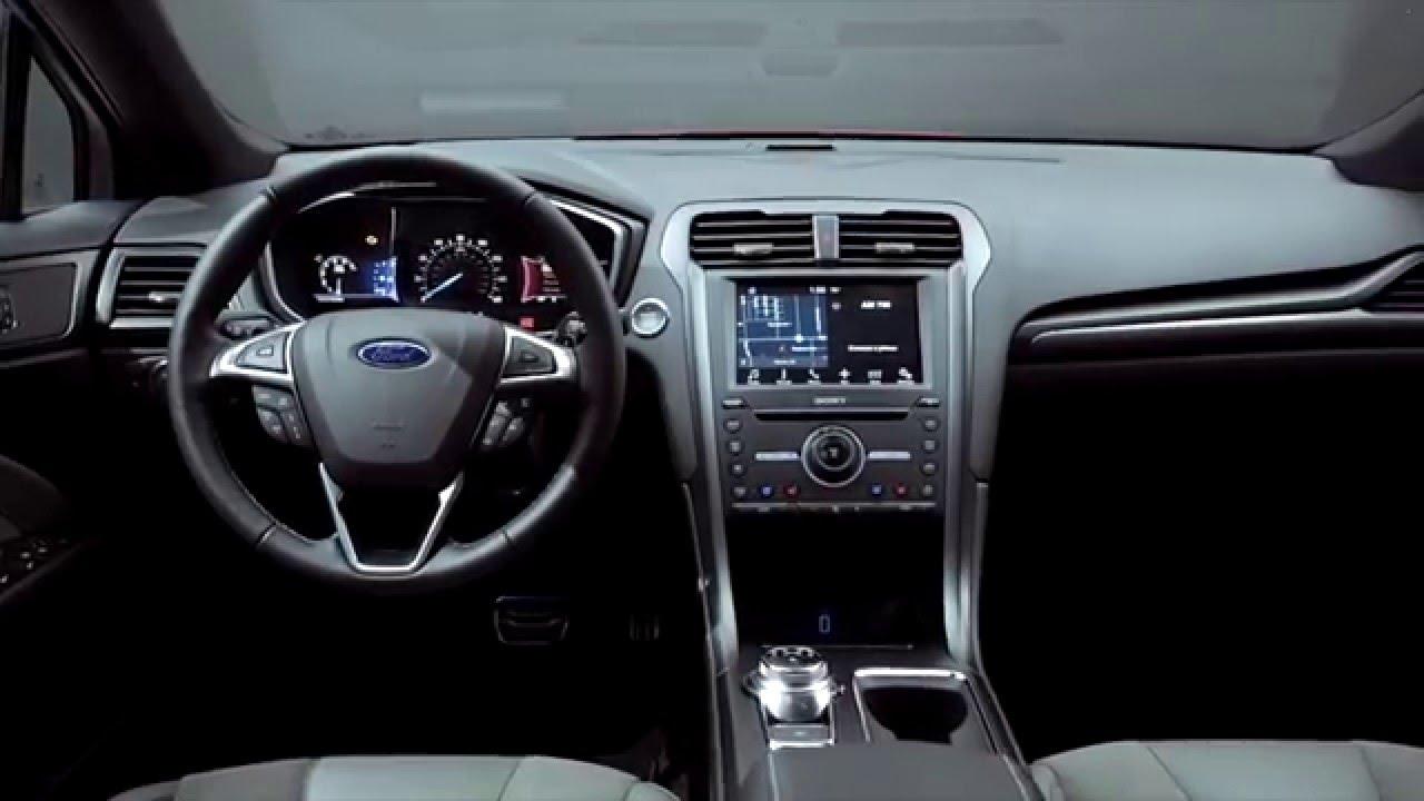 2017 Ford Fusion Sport Interior Design Automototv Youtube