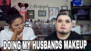 Doing My Husbands Makeup 2017 - Alexisjayda