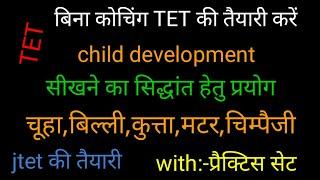 Child development/JTET/TET/CTET 2018/सीखने हेतु विभिन्न प्रयोग