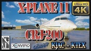 X-PLANE 11 | 4K | CRJ-200 | KJAC - KTEX | ORTHO4XP