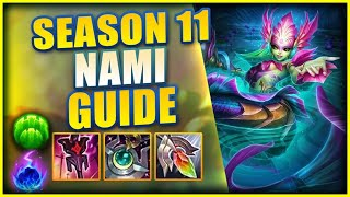 THE COMPLETE SEASON 11 CHALLENGER NAMI GUIDE (RUNES, ITEMS, & LANING) - League of Legends