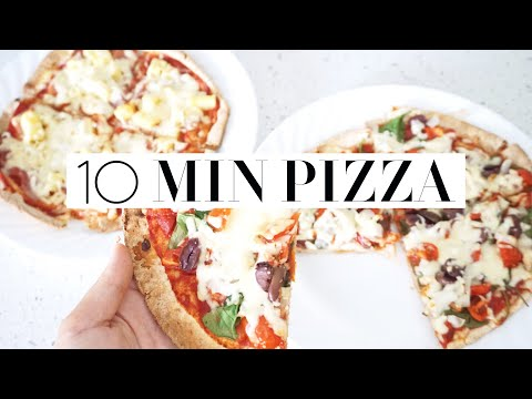 10 MINUTE HEALTHY PIZZA RECIPE How To Make A Quick Low Calorie Lunch!