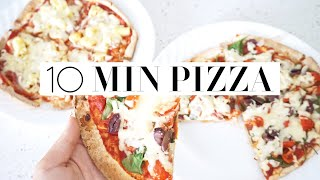 10 MINUTE HEALTHY PIZZA RECIPE - How To Make A Quick Low Calorie Lunch!