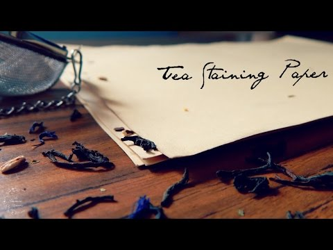 How to Tea Stain Paper | Aging Paper DIY | The Sweetest Journey