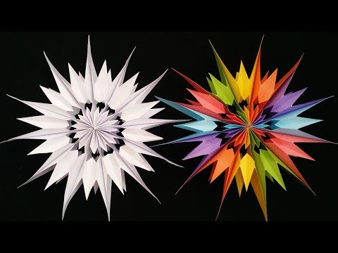 DIY: 3D Snowflake !!! How to Make Paper Star Snowflake For Christmas Decoration !!!