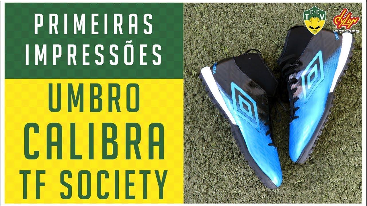 e703251b7e CHUTEIRA UMBRO CALIBRA TF SOCIETY - PRIMEIRAS IMPRESSÕES - ANÁLISE ...