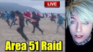 Reacting to Storm Area 51 Live Stream 🔴 Raid Reaction September 20