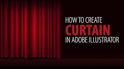 How to Create vector Curtain   Adobe Illustrator tutorial for beginners