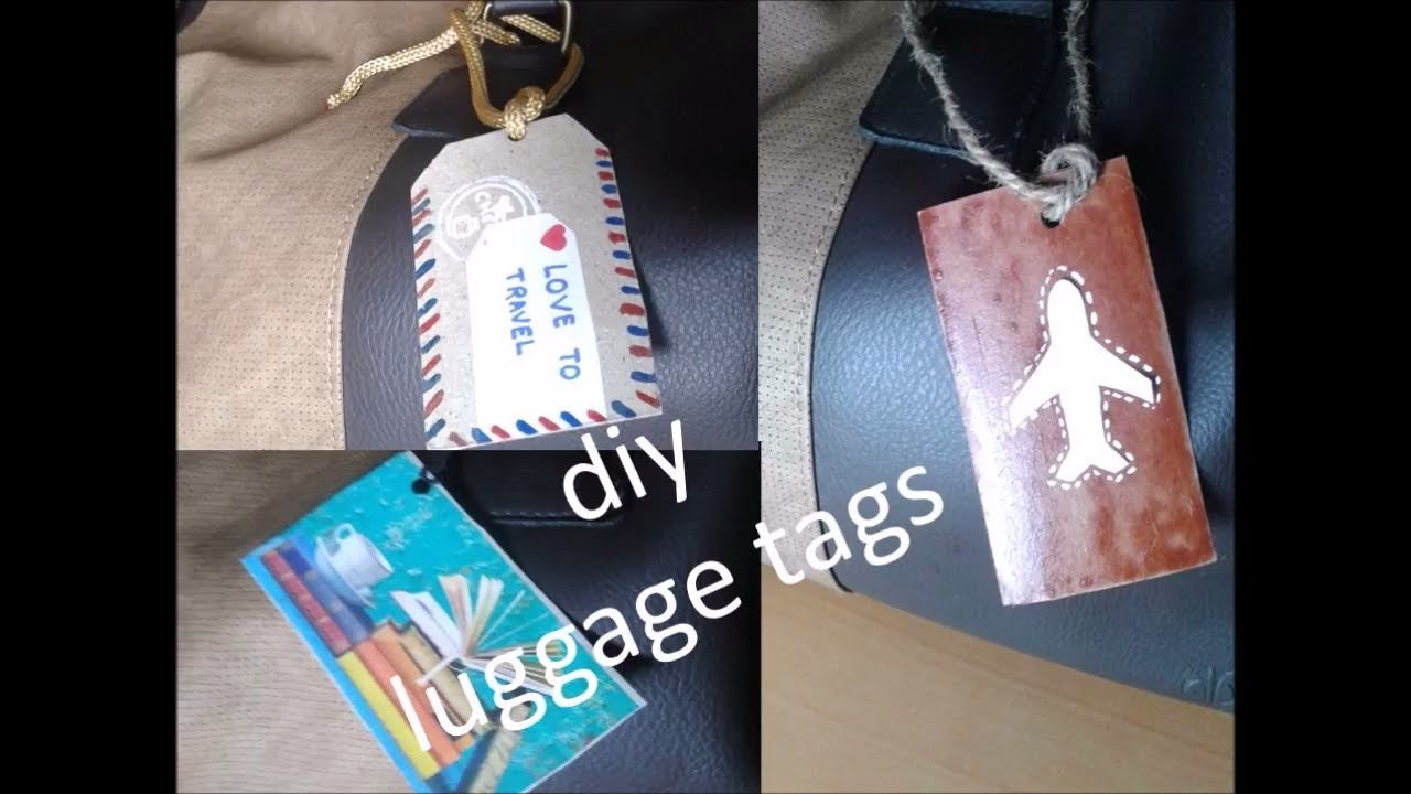 9dbd6060ae6d 5 types Homemade luggage tag | Luggage Tags Ideas | DIY Luggage Tag on your  Bag | Bookmark origami